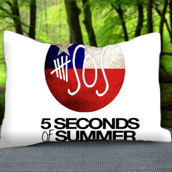 "SOS 5 Second Of Summer Band Logo Custom Pillow Case 30"" x 20"""