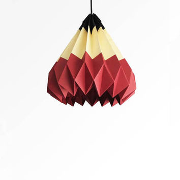 Pencil / Origami Paper Lamp Shade - Red