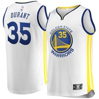 Men's Golden State Warriors Kevin Durant Fanatics Branded White Fast Break Replica Jersey - Association Edition