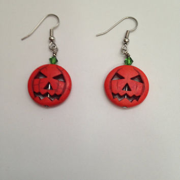 Halloween Earrings! Pumpkin Earrings- Handmade- Halloween Jewelry- Halloween Accessories