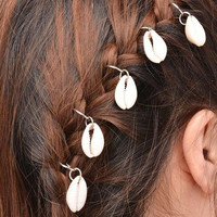 Stylish 5 Pcs Shell Decorated Hairpin For Women