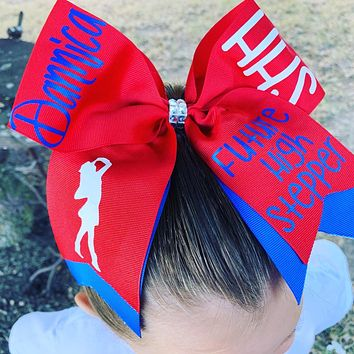 Future High Stepper cheer bow customized