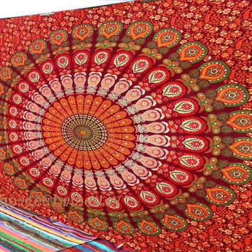Mandala tapestry ,Hippie wall hanging,Beach Throw,Indian Tapestry,Bohemian Dorm tapestries