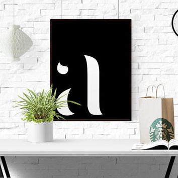 A Letter Printable Scandinavian Poster Custom Letter Custom Quote Printable Art Affiche Scandinave Initial Lowercase A Gray Nursery Monogram