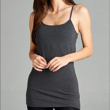 Charcoal Tank with built in Bra