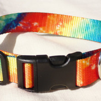 Tie Dyed Webbing Collar for Dogs