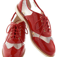 Rachel Antonoff for Bass New Orleans Attitude Shoe in Red | Mod Retro Vintage Flats | ModCloth.com