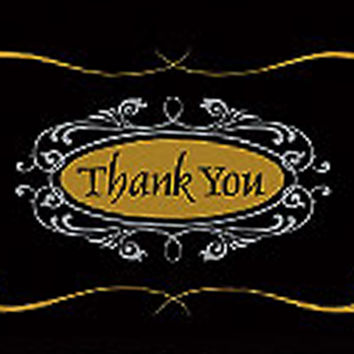 Thank You Script Blank Note Card