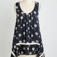 Boho Long Sleeveless The Fate Outdoors Top in Dandelions