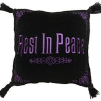 Disney Park Haunted Mansion Rest in Peace Decorative Toss Pillow Decorator