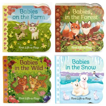 4 Pack Baby Animals Lift-a-Flap Board Books Board book – September 1, 2017