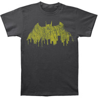 Batman Men's  Vintage Batman Winged Emblem T-shirt Grey