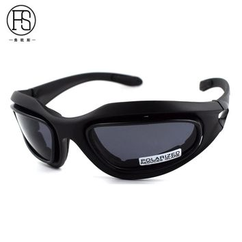 Tactical Glasses FS C5 Polarized Goggles 4 Lens Sunglasses Outdoor Hunting Shooting Safety Eyewear Hiking Climbing Sport Glasses