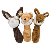 Soft Toy . Crochet Rattle - Deer