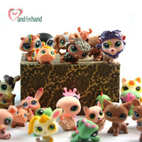 30PCS Littlest Action Figures Pet Toys Shop For Children Anime Story Animal Cat Pig Dog Figurine Collection Juguetes For Girl