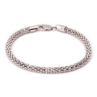 Sterling Silver Textured Coreana Chain Bracelet | zulily