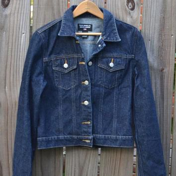 Vintage Ralph Lauren Cropped Jean Denim Blue Jacket