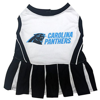 Pets First NFL Carolina Panthers Cheerleader Dress, Small
