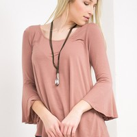Flirty Bell Top | Dusty Pink