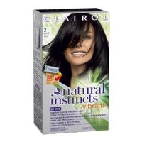 Clairol Natural Instincts Vibrant Permanent Hair Color 2, Midnight Rush, Black 1 Kit