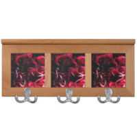 Dark red Carnation Bouquet Coat Rack