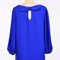 Royal Blue Bow Blouse