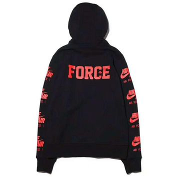 NIKE AIR FORCE Men Fashion Casual Long Sleeve Pullover Hoodie Long Sleeve Sweater G-ZDL-STPFYF