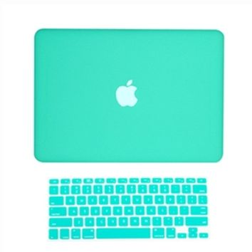 "NEW! Rubberized Hard Case for New Macbook White 13"" A1342 +Keyboard Skin cover"