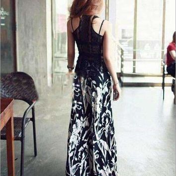 Long Gaucho Boho Flare Elephant Wide-Leg Pants