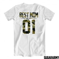 BEST MOM t-shirt CAMOUFLAGE PRINT