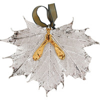 Sugar Maple w/ Seed Ornament, Silver, Ornaments