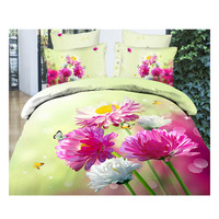 3D Queen King Size Bed Quilt/Duvet Sheet Cover Cotton reactive printing 4pcs 1.8M bed 08