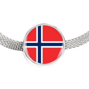 Norwegian Pride - Luxury Charm Bracelet