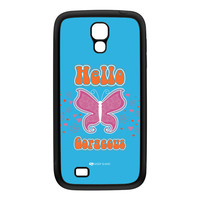 Sassy - Hello Gorgeous 10433 Black Silicon Rubber Case for Galaxy S4 by Sassy Slang