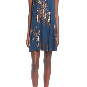 One Clothing Foil Print Halter Dress | Nordstrom