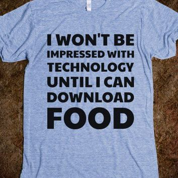 Downloading Food - Text Tees