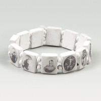 Blue Crown Saints Bracelet White One Size For Men 15992615001