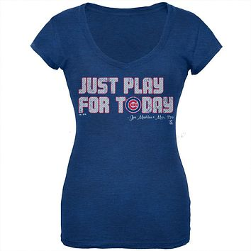 Chicago Cubs - NL Central 2015 Champs Play For Today Soft Juniors T-Shirt