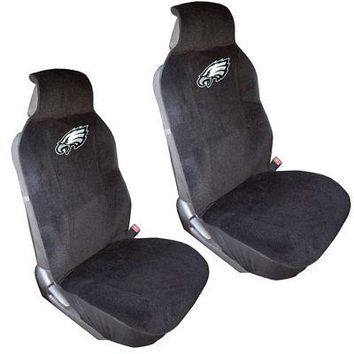 Licensed Official New 2pc NFL Philadelphia Eagles Car Truck Front Sideless Seat Covers Set