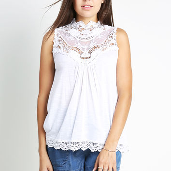 Crochet Lace Detail Top