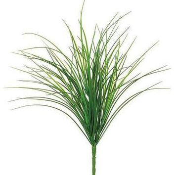 """Weather Resistant Artificial Grass Bush - 21"""" Tall"""