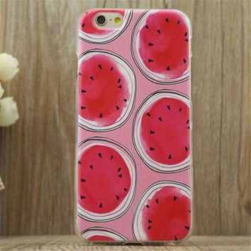 Watermelon Print Summer iPhone 5/5S/6/6S/6 Plus/6S Plus Case Gift Very Light Case-22