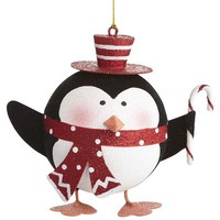 Scarfed Penguin Ornament