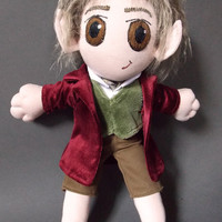 Bilbo Baggins The Hobbit Lord of the Rings Plush Doll Plushie Toy Martin Freeman