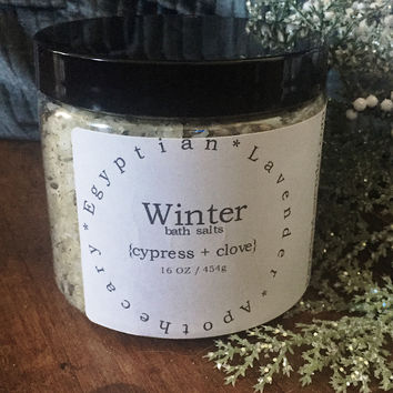 Winter bath salts