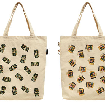 Women Can Printed Canvas Tote Shoulder Bag WAS_40