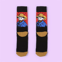 Van Gogh's Self Portrait Sock Vol.4