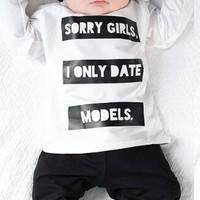 """I only date models"" Shirt and Pants Set"