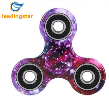 LeadingStar Fidget Spinner Colorful Tri-spinner Hand Spinner Aluminum Alloy Fidget Toy Anxiety Stress Adults Kid ABS Spinner