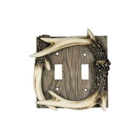 River's Edge Double Switch Cover - Deer Antler